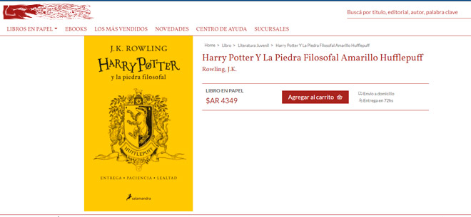 Harry Potter y la piedra filosofal. Edicion Hufflepuff